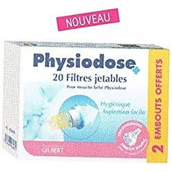 PHYSIODOSE boîte 20 filtres jetables + 2 embouts offerts