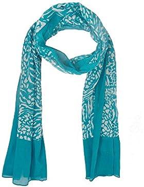 Veraluna Cenefa, Pañuelo para Mujer, Azul (Mediterráneo), One Size (Tamaño del Fabricante:U)