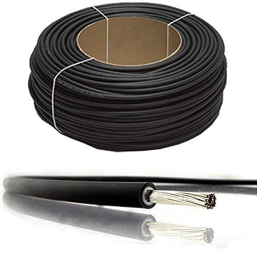 BMF Direct Solarpanel PV-Kabel, Gleichstrom, Nennstrom, schwarz und rot, 4 mm², 6 mm², 10 mm² - 1800 V, doppelt isoliert, Qualitätsdraht, 100 Metres, 4mm² Black