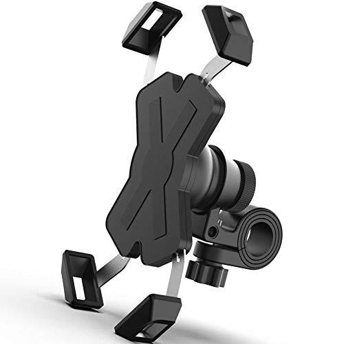 Qeekzeel Handyhalterung Fahrrad, Edelstahl Handyhalter Motorrad, 360° Drehbare Universal Outdoor Handy Fahrrad Halter für 4-7 Zoll Smartphone
