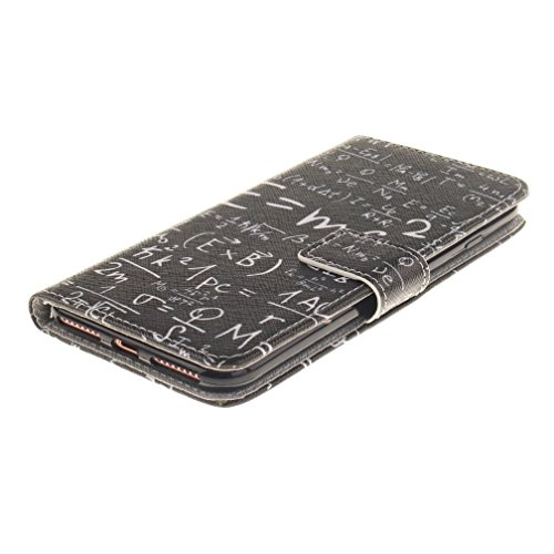 Protection Pour iphone 7 plus - Étui à Rabat Portefeuille Coque en Cuir Pour iphone 7 plus 5.5 pouces Etui de Protection Flip Case Cover Avec Intérieur Poches pour les Cartes -Couple de pissenlit Enveloppe de Londres