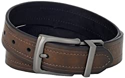 Levis Mens Levis 40MM Reversible Belt With Gunmetal Buckle, Brown/Black, 36