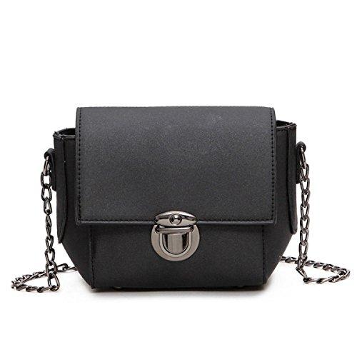 ZPFME Handtaschen Der Frauen Art Und Weise Handtaschen Schulterbeutel Diagonales Paket Partei Retro Damen Art Und Weise Handtasche Black