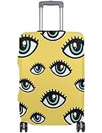 Preisvergleich für COOSUN Eye-Muster-Druck-Reise-Gepäck Schutzabdeckungen Waschbar Spandex Gepäck Koffer Cover - Passend für 18-32...