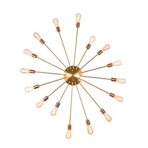 Retro Wandleuchte OYI Vintage Deckenleuchte Wandlampe Industrielle Beleuchtung Innenbenleuchtung Retro Pendelleuchte Für Wohnung Bar Arbeitzimmer Schlafzimmer Gold