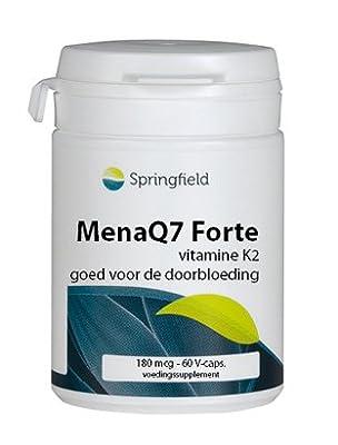 Springfield Neutracuticals Mena Q7 Forte Vitamin K2 180mcg - 60 capsules from Springfield