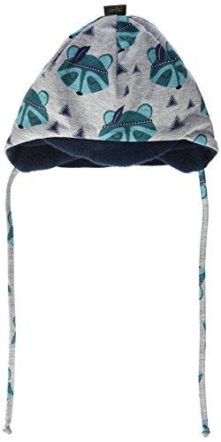 maximo Unisex Baby Mütze Schildmütze Waschbär, mit Bindeband Mehrfarbig (Graumeliert-Tanne-Waschbär 18), (Waschbär Hats)