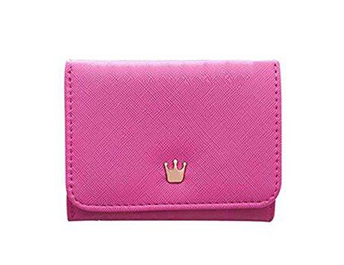 sen Kleine Portemonnaie für Frauen,PU Leder (Rosarot) (Kleine Brieftasche Brieftasche Frauen)