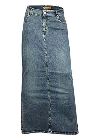 Clove Long Tall Ankle Length Maxi Stretch Denim Pencil Skirt