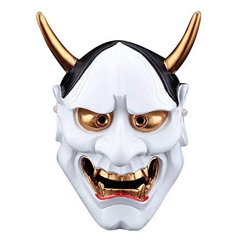 Etc Kostüm Pa - seawardi Halloween Maske Harz Vollgesichtsmaske Erwachsene Männer COS Japanische Krieger Maske Anhänger Clown Maske Halloween Party Horror Masken