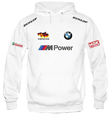 Sweatshirt mit Kapuze BMW MOTORRAD TEAM DEUTSCH personalisierte Kapuzenpullover (S)