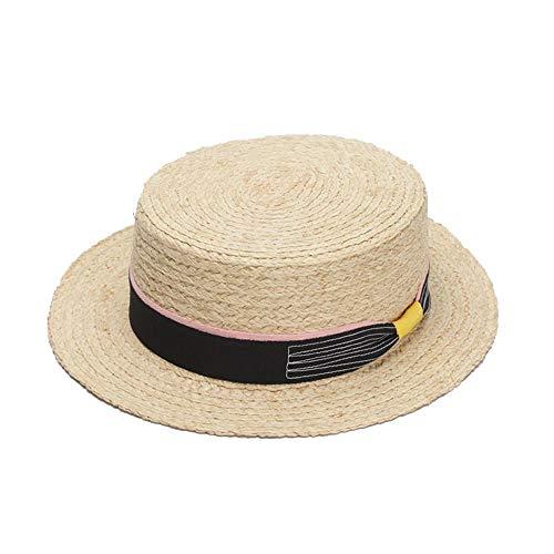 S.Y.MMSY Frauen Hut Außerhalb Sonnenhut Lafite Summer Sweet Adorable Strand Hut Korean Bow Small Hat Travel Visor (Farbe : Light Khaki, Größe : 56-58CM) (Sweet Angel Kostüm)