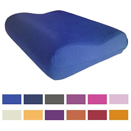 Kneer Kissenbezug für Tempur Original S/M/L/XL Nackenstützkissen 50x31 cm | 14 Farben (Kobalt)