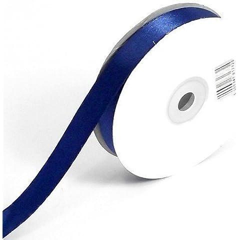 Blu Scuro Doppia Faccia Nastro Di Raso 38mm x 10 Metri Rotolo Pieno) Tessuto Bordate / Regalo / Cesto / Confezione