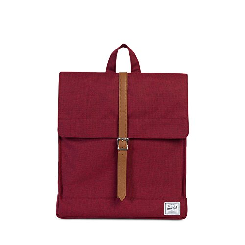 Herschel City Mid-Volume Winetasting Crosshatch/Tan Synthetic Leather