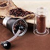 ELECTROPRIME Slim Ceramic Burr Hand Crank Manual Coffee Grinder Bean Portable Mill New