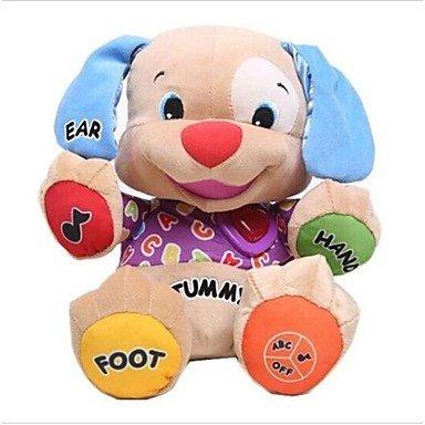hundeinfo24.de GD Musik-Hundespielzeug Baby musikalischer Plüsch elektronisches Spielzeug Hund singen Englisch Lieder