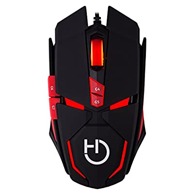 Hiditec Micrurus 8100dpi Right Handed (Right Handed, Laser Mouse, USB – black, red, 8100 Laser USB DPI, 120 g, Black Red) by Hiditec