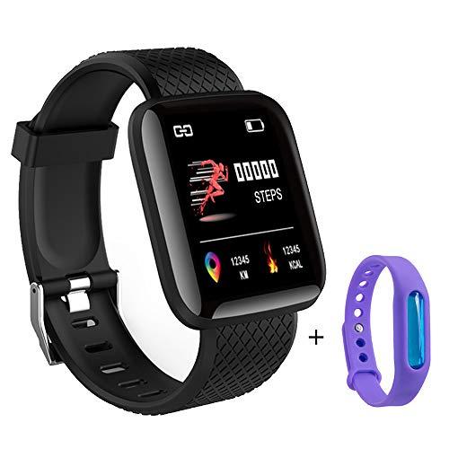 Explopur BT Smartwatch - 1,3 Inch-Farbbildschirm, IP67 wasserdichte Digitale Armbanduhr, mit Bewegungsspur zur Überwachung des Herzfrequenz-Blutdrucks