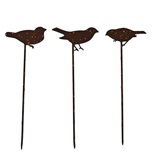 La Grande Prairie Set Pique jardinière Oiseaux 10x30 cm