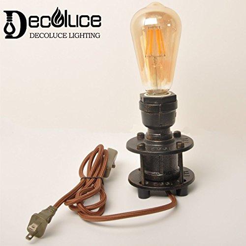 Focolux-Vintage Industrie Tisch Rohr Schreibtisch Lampe Retro Loft rustikal Steampunk Eisen ohne Edison Birne, antike Schreibtisch Lampen Nacht Wohnzimmer Schlafzimmer Home Decor mit - Industrie-schreibtisch-lampe