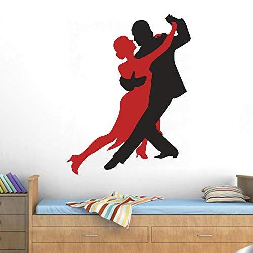 jiuyaomai Tanzen Paar Wand Poster Vinyl Wandaufkleber Für Dance Room Home Decoration Dance Studio Wandbild Interior Art Decor 42x54 cm