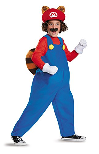 Super Mario Bros Nintendo Mario Raccoon Deluxe Costume Child Small 4-6 (Super Mario Child Deluxe Kostüm)