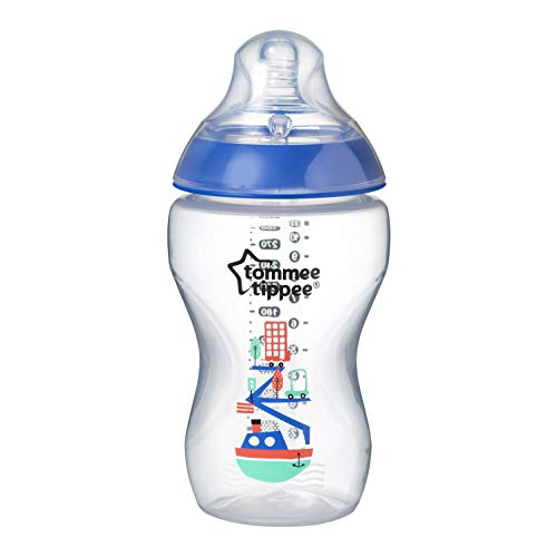 Tommee Tippee 42269787 - Biberón decorado, 340 ml, color azul