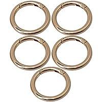 maDDma  1 Ring Karabiner Innen-/Ø 34mm Metall Ringkarabiner Tasche Farbwahl Farbe:Gold Schl/üssel