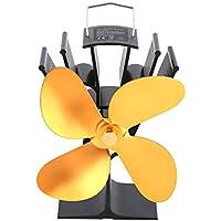 Chimenea ventilador térmico eléctrico, chimenea de ventilador, chimenea térmica Heat Fan Desarrollado Estufa ventiladores