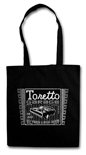 VINTAGE TORETTO GARAGE LOGO Hipster Shopping Cotton Bag Borse riutilizzabili per la spesa - Diesel Rapides Movie 2 Vin The Fast And et Dangereux The Furious