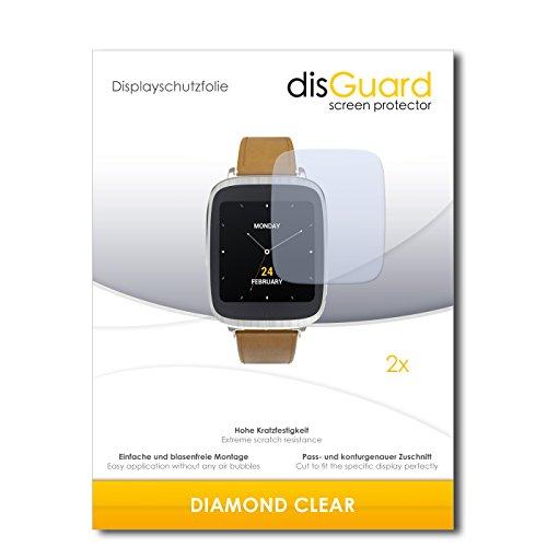 2 x disGuard® Bildschirmschutzfolie Asus Zenwatch 2 WI500Q Schutzfolie Folie