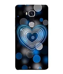 FUSON Designer Back Case Cover for Huawei Honor 5X :: Huawei Honor X5 :: Huawei Honor GR5 (Pink Red Wallpapers Boyfriends Pure True Relations)