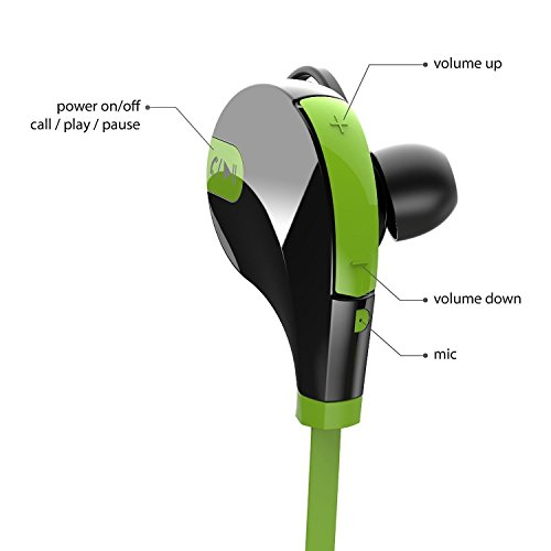 Wireless Bluetooth in-Ear Headphones for OnePlus 7T Pro Sports Bluetooth Wireless Earphone with Deep Bass and Neckband Hands-Free Calling inbuilt Mic Headphones with Long Battery Life and Flexible Headset Image 5
