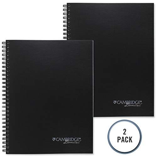 Mead Cambridge Business Notizbuch, Spiralbindung, liniert, 6 5/8 x 9 1/2 Zoll, 80 Blatt (06672) 2 Pack 6 5/8