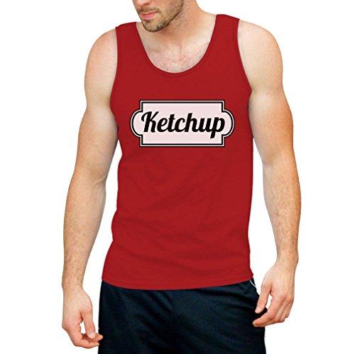 Ketchup Tank Top - Cooles Motiv Karneval / Fasching und Alltag Rot