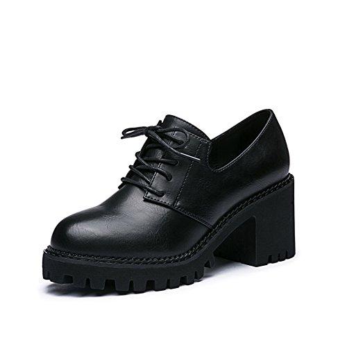 Chaussures de sangle Lady head/Chaussures talons épais A