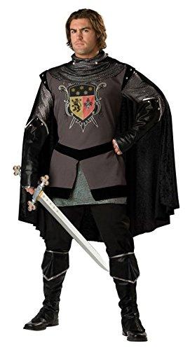 Generique - Schwarzer Ritter-Kostüm für Herren - Deluxe M