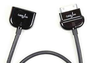 CableJive dockXtender Rallonge Dock pour iPad/iPod/iPhone avec un connecteur Dock 60 cm Noir