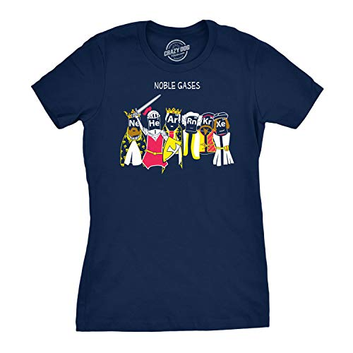 256b8e002e9aa Womens Noble Gases Science T Shirt Funny Science Shirts Cool Humorous Nerdy  Tees for Geeks (