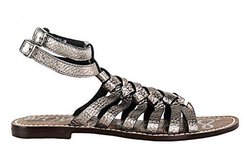 Scarpe donna SAM EDELMAN sandali bassi infradito N.36 grigio pelle schiava X1072