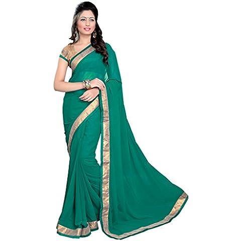 Mirchi Fashion -  Sari  - Donna Verde verde Taglia unica