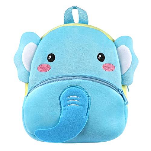 Kinder Rucksack,Kleine Mädchen Junge Kleinkind Mini Rucksack,Bequeme Weiche Tasche Geschenk für 1-5 Jahre alte Kinder für Outdoor/Sports/Camping/Picknick Rucksäcke (Elefant-Blau)