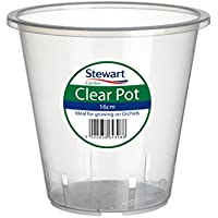 Stewart Clear Orchid Pot 18.5cm Garden Products