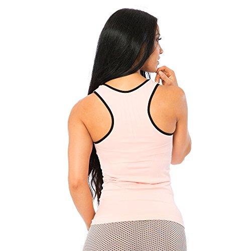 SMILODOX - T-shirt de sport - À logo - Femme Rose