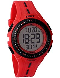 Limit Boy's Digital Watch with LCD Dial Digital Display and Red Plastic Strap 5392.56