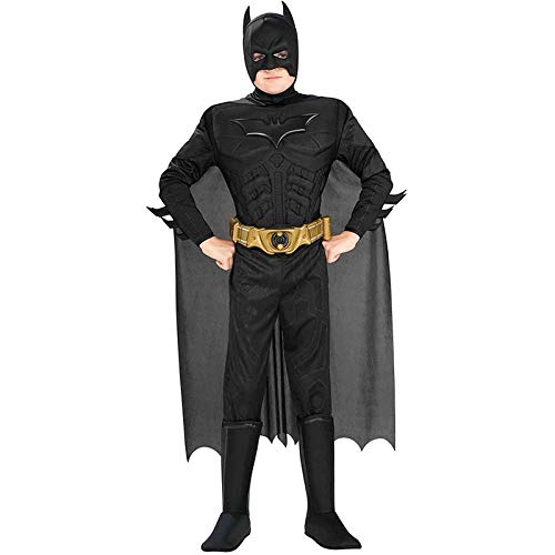 Kinder Batman Cosplay Halloween Boy Superheld Spielt Kostüm,Black-M