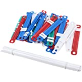50 Sets Office School Colorful Plastic Binding Document Paper Fasteners