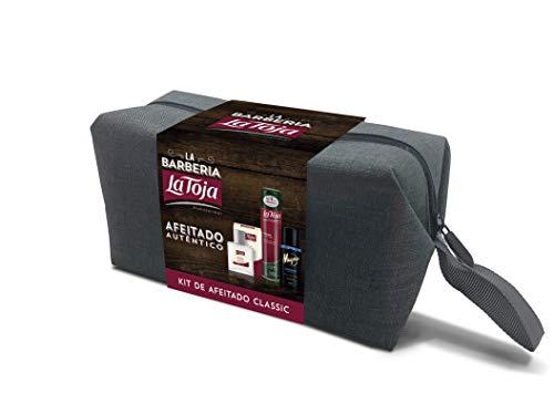 La Toja - Kit de Afeitado - After Shave Bálsamo Clásico 100ml + Espuma Classic 300ml + Deo Spray Magno Marine 150ml