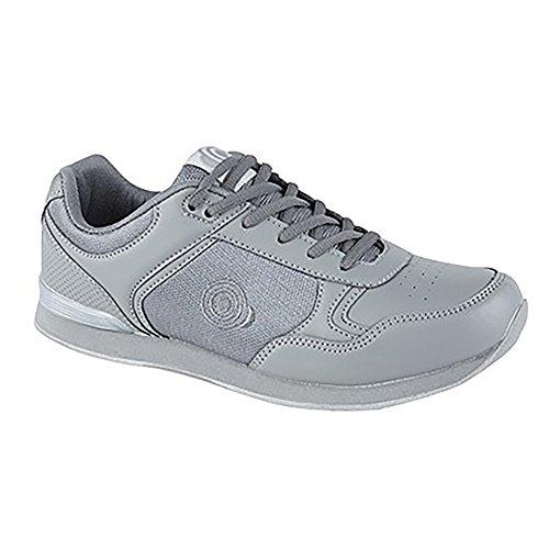 Dek Jack Bowlingschuhe, mit Schnürsenkel, Sportschuhe, in Weiß/Grau, für Herren, Grau - Grey PU/Textile - Größe: 42